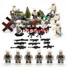 American WW2 Soldiers minifigures European counterattack Military Sets Lego Compatible Toy