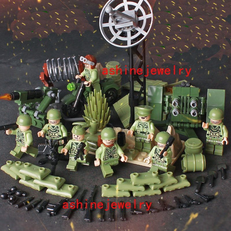 American Battle of Midway WW2 Soldiers Lego Soldiers Sets Compatible Toys