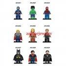 Hulk Batman Ironman Superheroes minifigures  Lego minifigures Compatible Toys