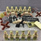 Lego Compatible American soldiers Band of 6 minifigs  World War 2 Army american commando
