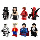 The Flash Lara Croft Deadpool minifigures Lego DC Superhero sets Compatible Toys