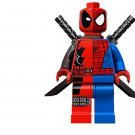 Deadpool Spiderman Merge Minifigures Lego Marvel Superman sets Compatible Toy