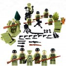 World War 2 Army American Soldiers Minifigure Lego Military swat Compatible Toys