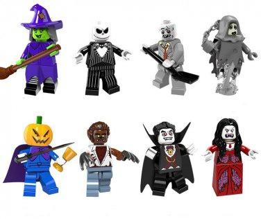 Lego Halloween Sets 2019.Pumpkin Vampire Witch Minifigures Lego Halloween Set Compatible Toy