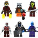 Starlord Rocket Minifigures Guardians of the Galaxy Lego Ayesha's Revenge Compatible Toy