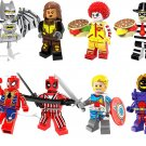 Iron Man Spiderman Deadpool minifigures Lego Super Hero sets Compatible Toys