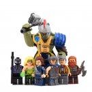 Thor Loki Grandmaster Sakaarian Guard Hulk minifigures Lego Thor vs Hulk Arena Clash Compatible