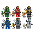 Zane Lloyd Kai Jay minifigures Lego Temple of Resurrection Compatible Toys