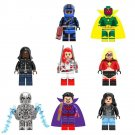 Avengers Union 3 Iron Man racing Vision Wanda Maximoff minifigures Lego Compatible Toy