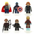 Iron Man Black Widow minifigures Avengers 3 Lego Minifigures Compatible Toy
