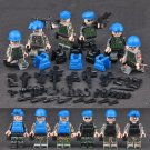 Military Minifigures United Nations peacekeeping team with Minifigures Lego Compatible Toy