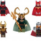 Marvel Super Heroes Lady Loki Scarlet Witch Heimdallr Minifigures Lego Compatible Toys