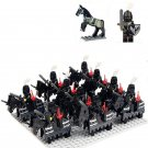 Black army war minifigures Medieval Knights Lego Compatible Toys