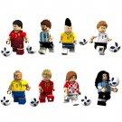 Football sets Messi Neymar Ronaldo minifigures 2018 World Cup Lego Compatible Toys