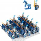 Blue Army Castle war minifigures Medieval Knight Lego Compatible Toys
