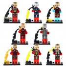 Iron Man minifigures Marvel The Avengers Quinjet City Chase Lego Compatible Toys