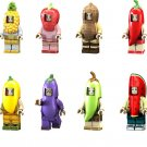 Fruit Pineapple Strawberry Mango Minifigures Lego Deluxe Train Set Compatible Toys