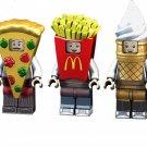 McDonald minifigures Ice Cream Potato Chips Lego Minifigures sets Compatible Toys