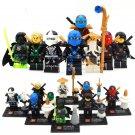 Kai Jay Zane Nya minifigures NinjagoTemple of Resurrection Lego Compatible Toys