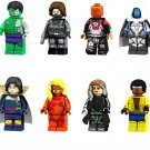Luke Cage Rogue Winter Soldier Super Hero Airport Battle Lego minifigures Compatible Toys