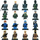 USA Commando falcon swat soldiers minifigures Military set Lego compatible Toy