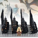Game of Thrones minifigures Daenerys Targryen with Soliders Lego Compatible Toy