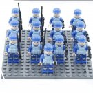 12pcs Navy Soldiers Minifigures Military Building block Toy Compatible Lego WW2 Soldiers
