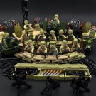 Military America 101st Airborne Division Soldiers Minifigures  Compatible Lego WW2 Toy
