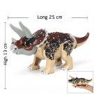 Triceratops Dinosaur Minifigures Compatible Lego Jurassic World 2 building block Toy