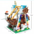 Swing Pink Pirates Ship Lego Pirate Sets Compatible Girls Building Toy