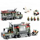 Battle Command Vehicle UAV Soldiers Minifigures Compatible Lego Military Building Block Toy