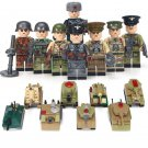 Leningrad defending Soviets German army Soldiers Minifigures Compatible Lego WW2 Military