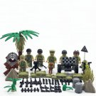 America 1st Armored Division soldiers Minifigures Compatible Lego WW2 Military