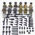 World War II America vs German Soldiers minifigures Lego Compatible military Toy