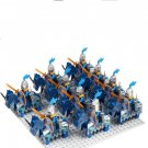 Medieval Blue Knight soldiers minifigures Lego Compatible Medieval Castle