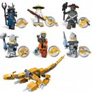 6in1 Ninjago Sensei Wu minifigures Lego Toy Compatible Ninjago minifigures