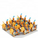 Gold Medieval Knight Soldiers Minifigures Lego Compatible Medieval Knight
