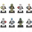 8pcs Star Wars Clone Troopers minifigures Lego Compatible Star Wars Minifigure