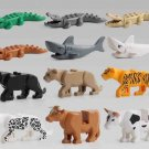 leopard Crocodile Cattle building block Toy Compatible Lego Toy Minifigures Zoo series