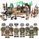 8pcs Germany soldiers Minifigures Compatible Lego Toy WW2 Military building block