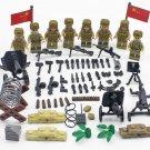 Chinese People's Volunteers Minifigures Compatible Lego Korean War building block Toy
