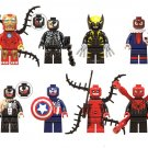 Venom Iron Man Spider-Man Minifigures Compatible Lego Venom movie building block Toy