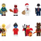 Christmas snowman Vampire Leicester Minifigures Compatible Lego Christmas building block Toy