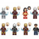 Dance Girl Tony Stark Minifigures Compatible Lego Iron Man building block Toy