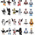 24pcs Imperial Stormtrooper Clone Trooper Minifigures Compatible Lego Star Wars building block Toy