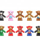 14pcs Super Heroes Teddy Bear Minifigures Compatible Lego Teddy Bear building block Toy