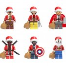 Deadpool Iron Man Santa Claus Minifigures Compatible Lego Santa Claus building block Toy