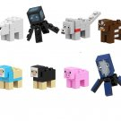 Dyed Sheep Wolf Cow Minifigures Compatible Lego Minecraft building block Toy