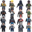 16pcs Fortnite Game Character Minifigures Compatible Lego Game Minifigures Toy