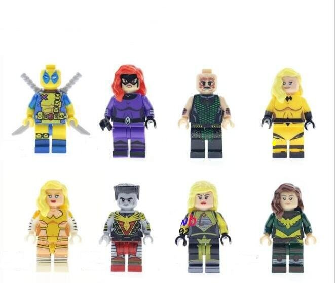 Minifigures Compatible Lego X-Man Colossus Crystal Hope Summers Karnak Dazzler Emma Frost